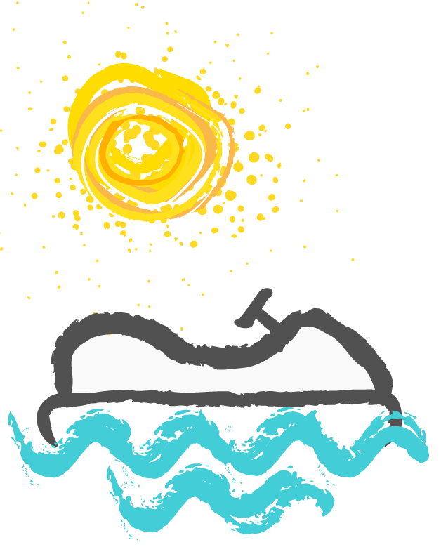 Pedal boat icon