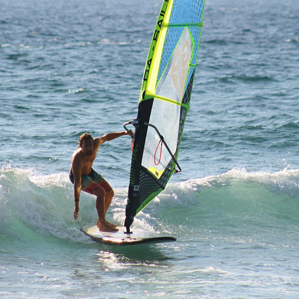 Person windsurfing